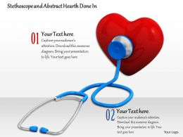 0814_heart_checked_by_stethoscope_shows_medical_and_health_theme_image_graphics_for_powerpoint_Slide01