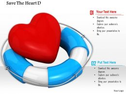 0814 Heart Lifesaver For Health Graphic For Powerpoint