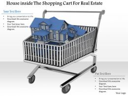 0814 House Inside The Shopping Cart For Real Estate Image Graphics For Powerpoint