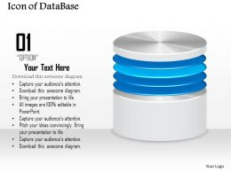 0814_icon_of_database_or_disk_storage_for_a_network_file_system_or_storage_area_network_ppt_slides_Slide01