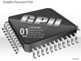 0814 Icon Of Graphic Processor Unit Chip Microprocessor CPU Motherboard With Sockets Ppt Slides
