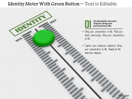 0814 Identity Meter With Green Button Image Graphics For Powerpoint