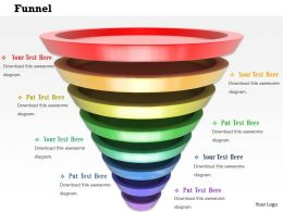 0814 Independent Staged Funnel Diagram For Business Process Flow Image Graphics For Powerpoint