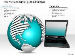 0814 Internet Concept Graphic Of Global Business With Laptop And Globe Graphics For Powerpoint