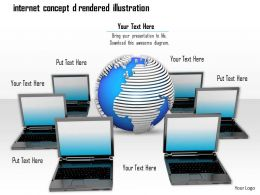 0814 Internet Concept Graphic Of Globe And Laptop Graphics For Powerpoint