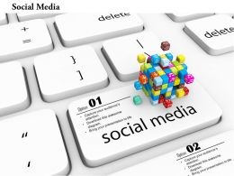 0814 Key Of Social Media On Keyboard For Internet Image Graphics For Powerpoint