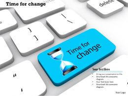 0814 Key On Keyboard With Time For Change Quotation Image Graphics For Powerpoint