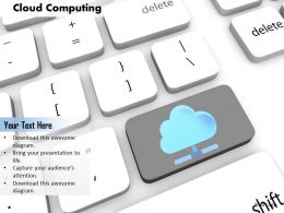0814 Key With Cloud Graphic Shows Cloud Computing Image Graphics For Powerpoint