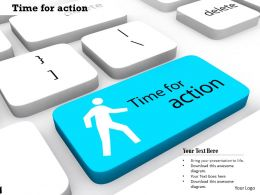 0814 Key With Time Of Action Theme Image Graphics For Powerpoint