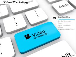 0814 Key With Video Marketing Concept Image Graphics For Powerpoint
