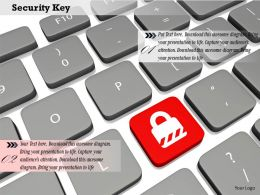 0814 Keyboard With Security Key For Security Graphics For Powerpoint