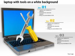 0814_laptop_with_tools_on_white_background_for_repair_services_graphics_for_powerpoint_Slide01