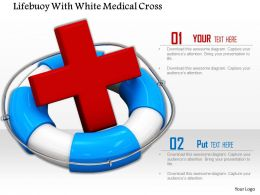 0814 Lifeguard Tube With Red Cross Symbol For Safety And First Aid Image Graphics For Powerpoint