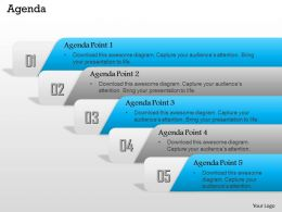 0814 Linear Sequential Diagram With Five Stages To Show Points Of Agenda