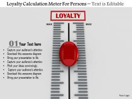 0814 Loyalty Calculation Meter For Persons Image Graphics For Powerpoint