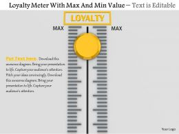 0814 Loyalty Meter With Max And Min Value Image Graphics For Powerpoint