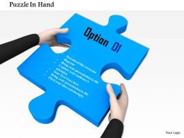 0814 Man Holding Blue Puzzle Image Graphics For Powerpoint