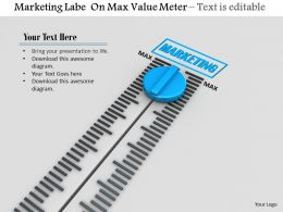 0814 Marketing Label On Max Value Meter Image Graphics For Powerpoint