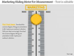 0814 Marketing Sliding Meter For Measurement Image Graphics For Powerpoint