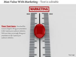 0814 Marketing Value Calculation Meter With Red Button Image Graphics For Powerpoint