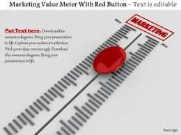 0814 Marketing Value Meter With Red Button Image Graphics For Powerpoint
