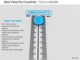 0814 Max Value For Creativity Image Graphics For Powerpoint
