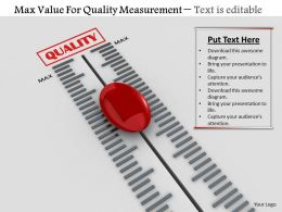 0814 Max Value For Quality Measurement Image Graphics For Powerpoint