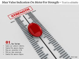 0814 Max Value Indication On Meter For Strength Image Graphics For Powerpoint