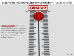0814 Max Value Indicator Meter For Creativity Image Graphics For Powerpoint