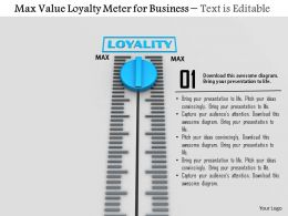 0814 Max Value Loyalty Meter For Business Image Graphics For Powerpoint