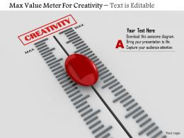 0814 Max Value Meter For Creativity Image Graphics For Powerpoint