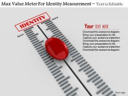 0814 Max Value Meter For Identity Measurement Image Graphics For Powerpoint