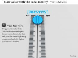 0814 Max Value Meter With Label Of Identity Image Graphics For Powerpoint