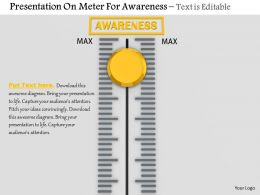 0814 Max Value Presentation On Meter For Awareness Image Graphics For Powerpoint