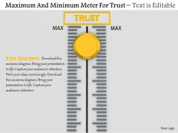0814 Maximum And Minimum Meter For Trust Image Graphics For Powerpoint