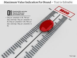 0814 Maximum Value Indication For Brand Image Graphics For Powerpoint