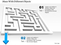 0814 Maze With Blue Arrow To Show Solution Objective Image Graphics For Powerpoint