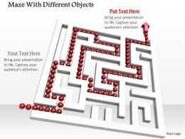 0814_maze_with_solution_path_for_problem_solving_image_graphics_for_powerpoint_Slide01