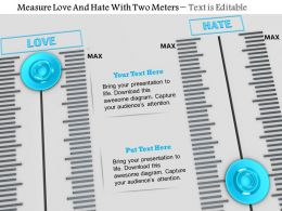 0814 Measure Love And Hate With Two Meters Image Graphics For Powerpoint