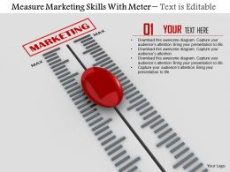 0814 Measure Marketing Skills With Meter Image Graphics For Powerpoint