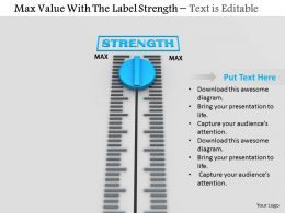 0814 Measure Strength With Meter Image Graphics For Powerpoint