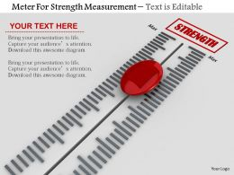 0814 Meter For Strength Measurement With Max And Min Image Graphics For Powerpoint