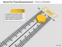 0814 Meter For Trust Measurement Image Graphics For Powerpoint