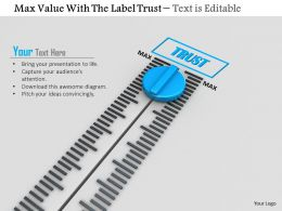 0814 Meter For Trust With Maximum Value Image Graphics For Powerpoint