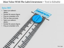 0814 Meter On Max Value For Awareness Image Graphics For Powerpoint
