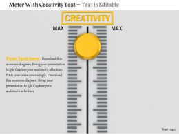0814 Meter With Creativity Text And Maximum Minimum Value Image Graphics For Powerpoint