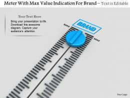 0814 Meter With Max Value Indication For Brand Image Graphics For Powerpoint