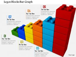 0814 Multicolored Bar Graph Made By Lego Blocks Image Graphics For PowerPoint