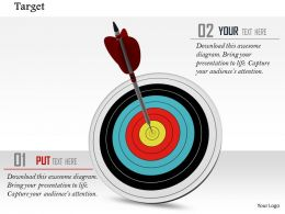 0814 Multicolored Dart With Arrow On Bulls Eye For Target Image Graphics For Powerpoint