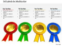 0814 Multicolored Labels For Success And Event Image Graphics For Powerpoint